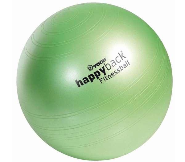 TOGU Happyback Fitnessball mit Softoberfläche in grün