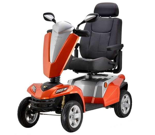 Elektromobil Kymco Texel in der Farbe Silber Orange