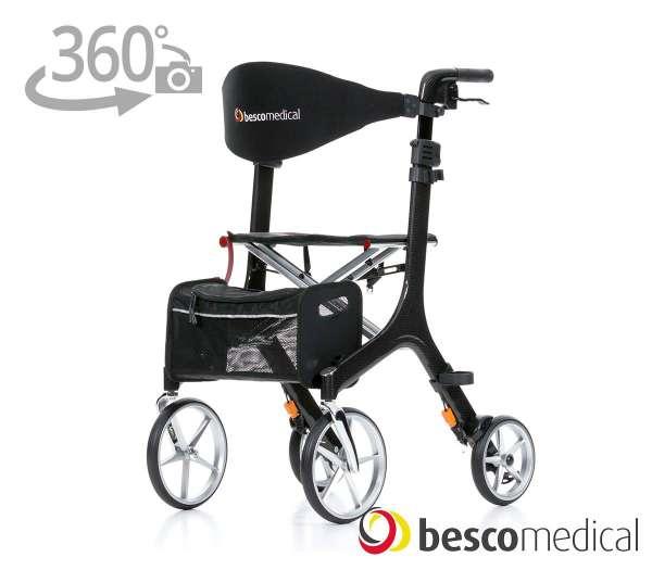 Carbon Rollator von BESCO MEDICAL mit 360° Ansicht im rehashop