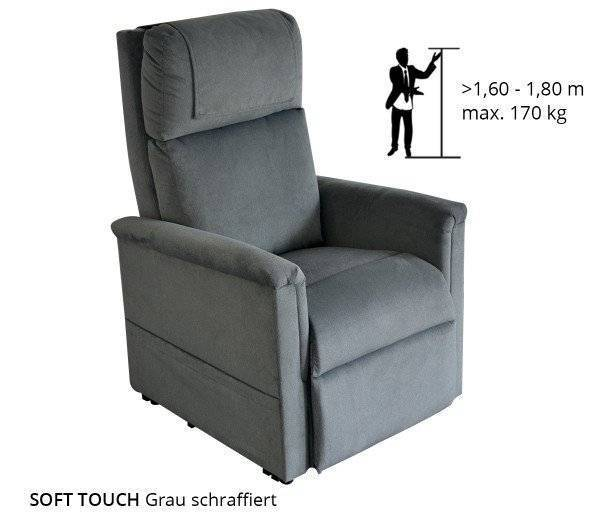GOLDEN Sessel Moderner Komfort 1 Motor in der Farbe Grau schraffiert