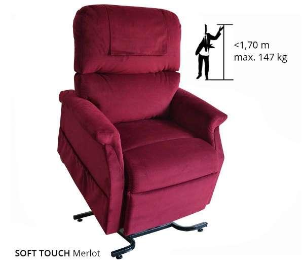GOLDEN Komfort Premium mit Soft Touch Bezug in Farbe Merlot