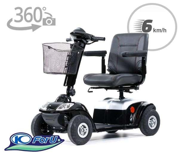 KYMCO Elektromobil Spiekeroog schwarz 360 Grad Anischt