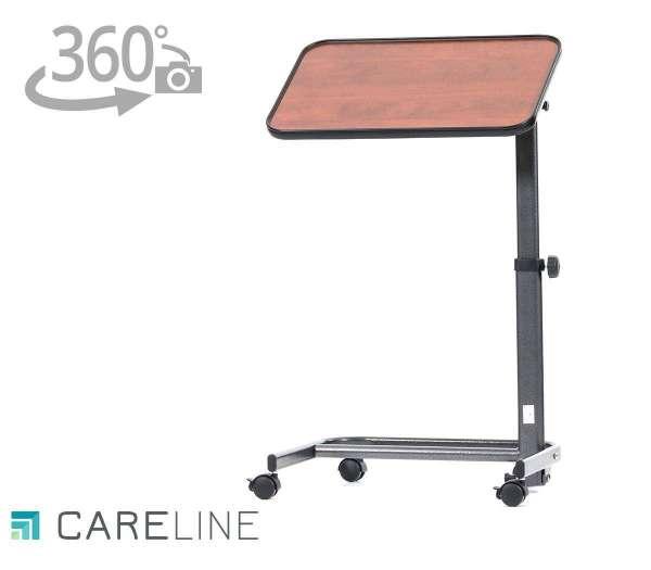 CARELINE Beistelltisch Luxus Farbe: Walnuss mit 360 Grad-Ansicht im rehashop