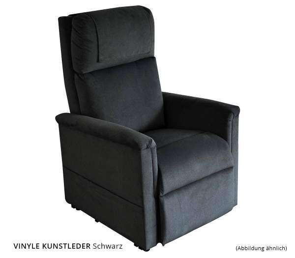 GOLDEN Moderner Komfort Sessel 2 Motoren Vinyle Kunstleder Schwarz