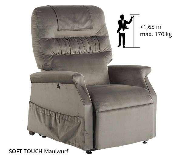 GOLDEN Klassischer Komfort Sessel 1 Motor Farbe Maulwurf