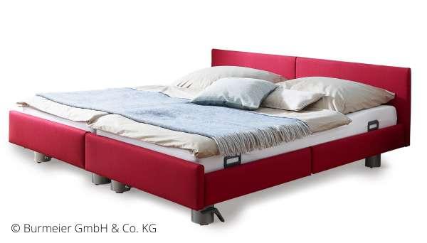 BURMEIER Regia Pflegedoppelbett mit Stoff-/Kunstlederbezug