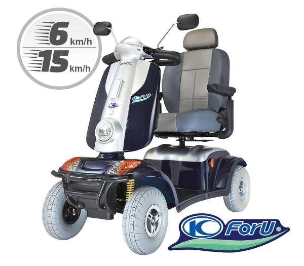 Elektromobil Kymco Föhr für hohen Komfort und gute Fahreigenschaften