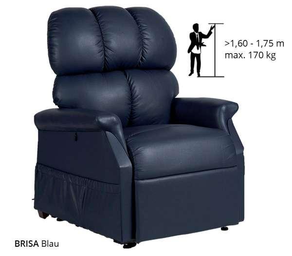 GOLDEN Komfort Plus Sessel 2 Motoren in der Farbe Blau