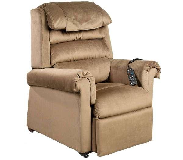 GOLDEN Sessel Komfort Luxus 2 Motoren in der Farbe Damhirsch