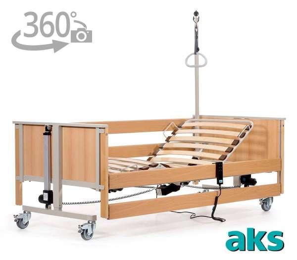AKS Pflegebett L4 im rehashop mit 360 Grad-Ansicht