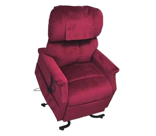 GOLDEN Komfort Plus Sessel 2 Motoren massierend und wärmend rot
