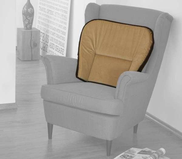 Schurwoll-Komfort-Sesselkissen mit Wendefunktion