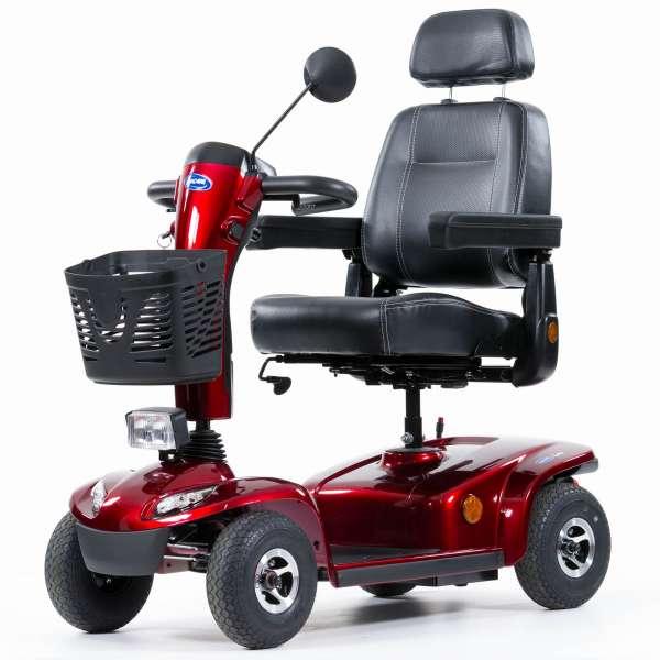 INVACARE Elektromobil LEO rot 360 Grad Anischt